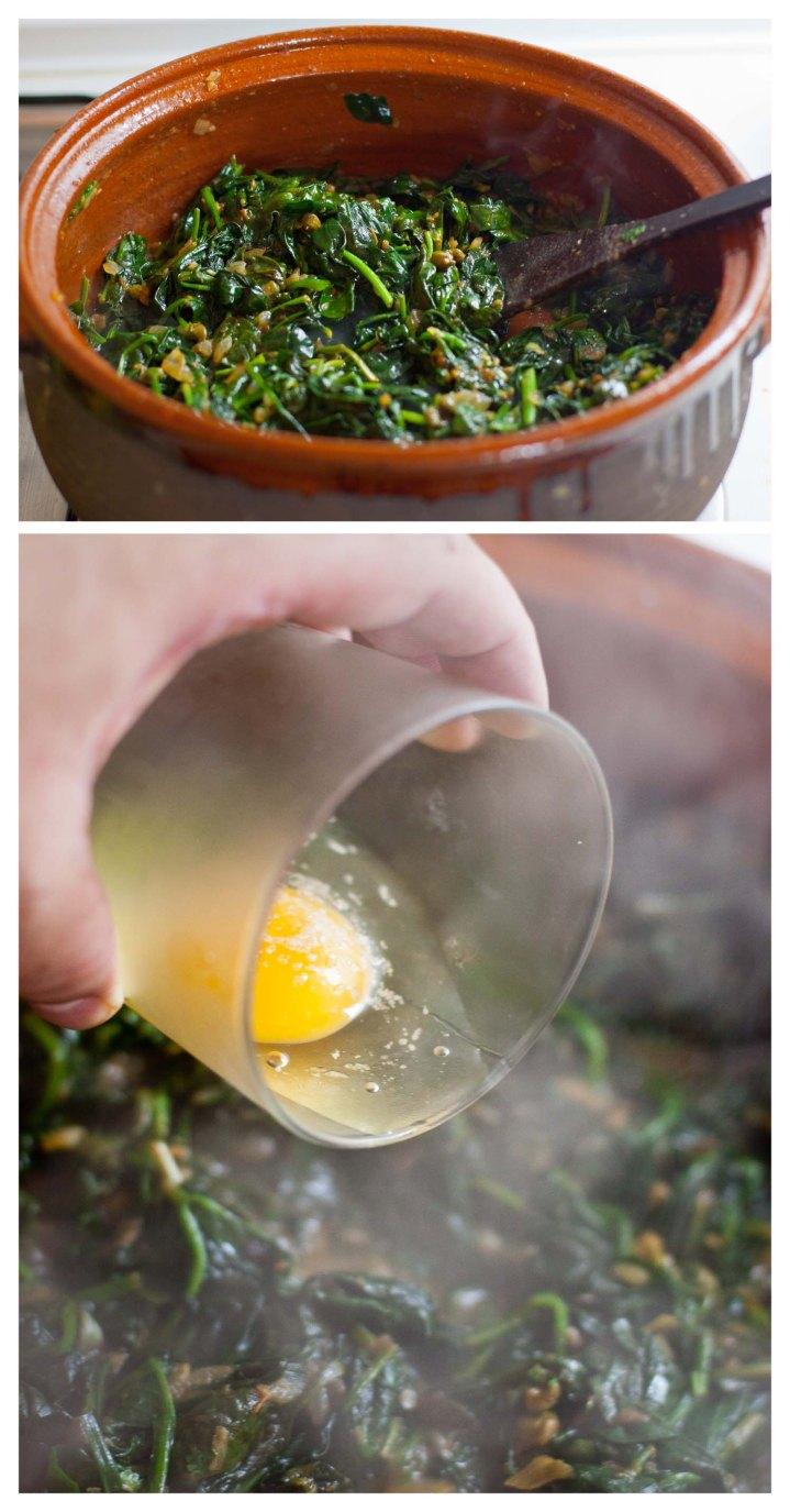 Se incorporan los huevos a la cazuela
