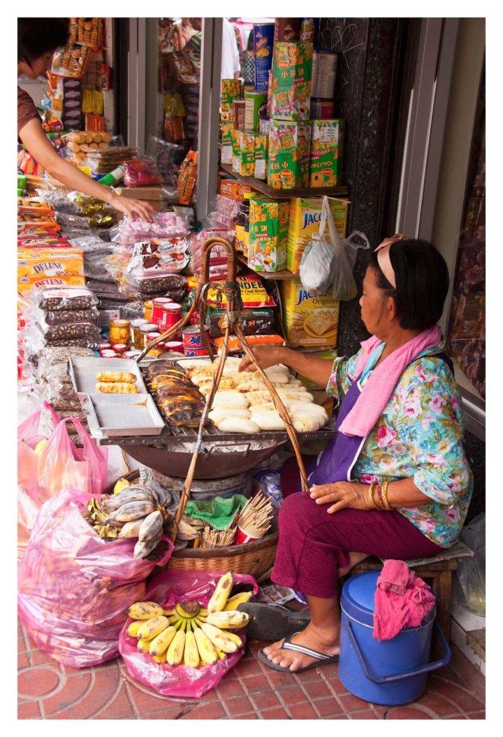 Aceras del centro de Bangkok