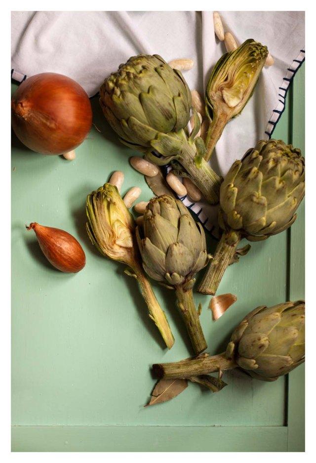 Cebolla, chalota y alcachofas