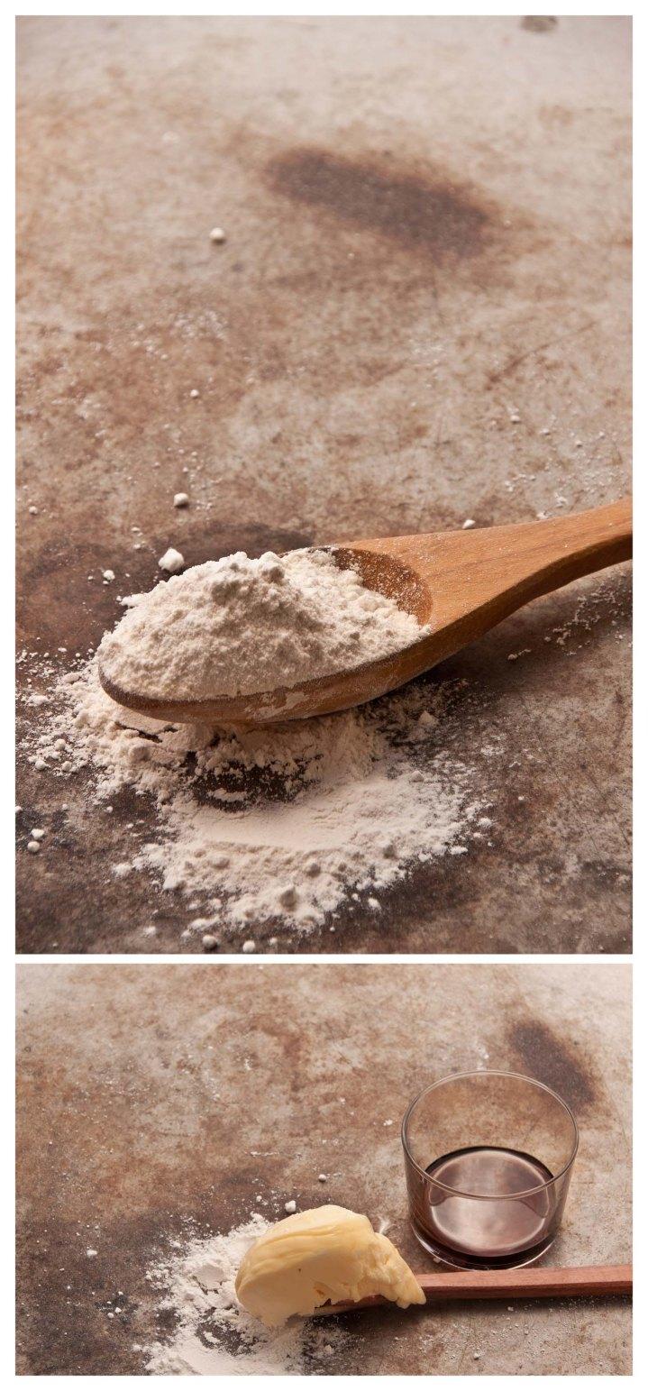 Harina, mantequilla, Pedro Ximenez y levadura química