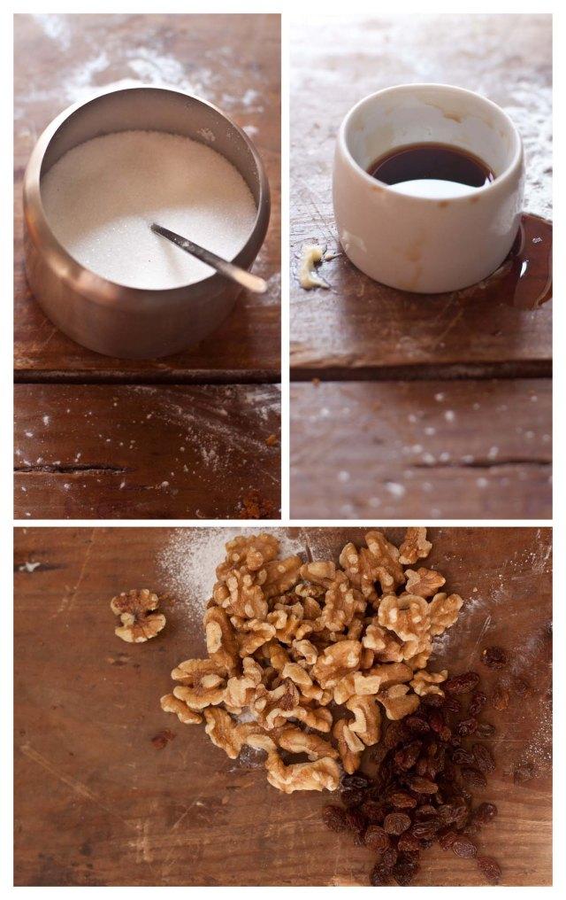 Azúcar, aroma de vainilla, nueces y pasas