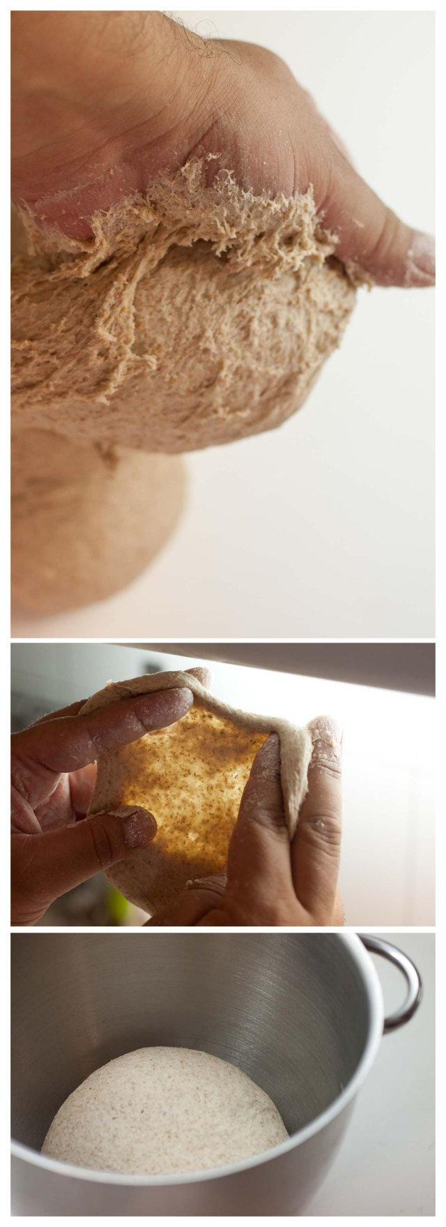 Amasando para que se desarrolle la estructura del pan