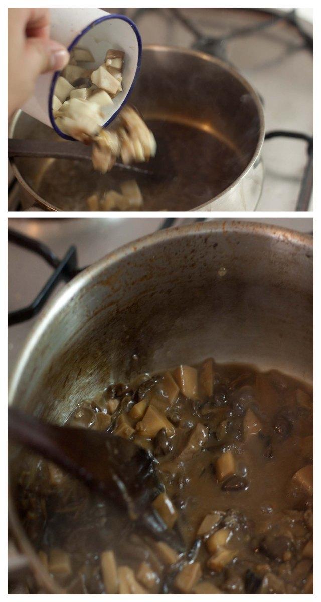 Terminando la salsa
