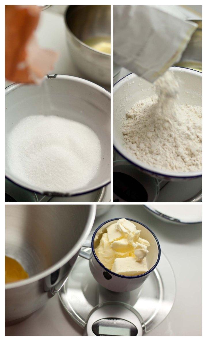 Se pesan el resto de ingredientes