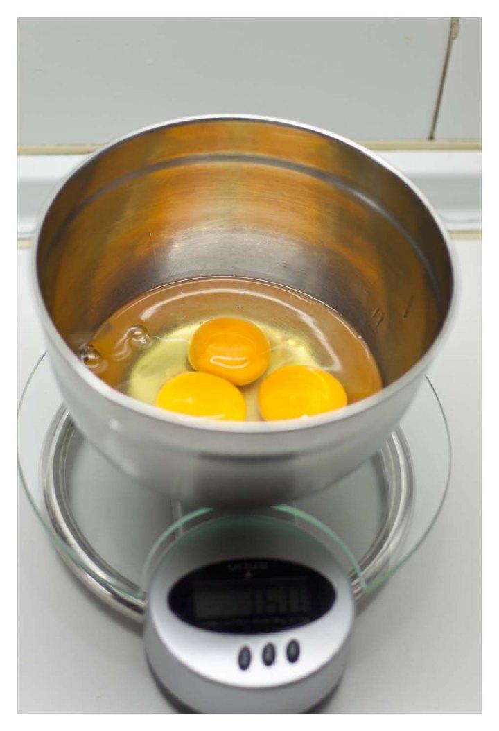 Se pesan los huevos