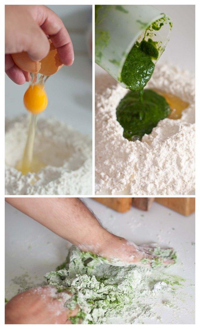 Elabortación de pasta