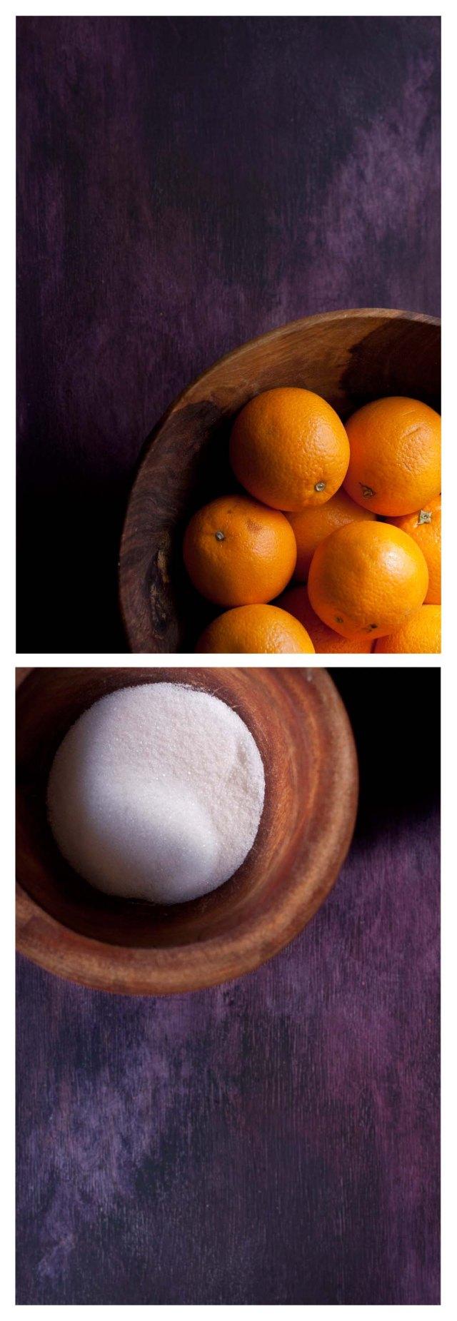 Naranjas y azucar