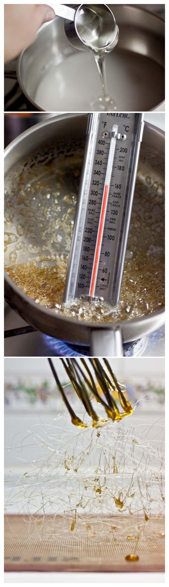 Elaboracion de nido de caramelo