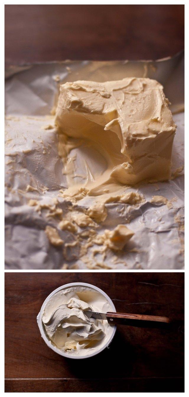 Mantequilla y mascarpone