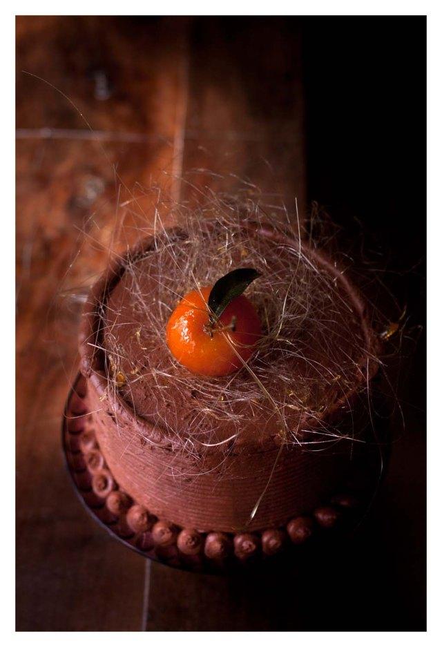 Tarta de mandarinas, mascarpone y chocolate