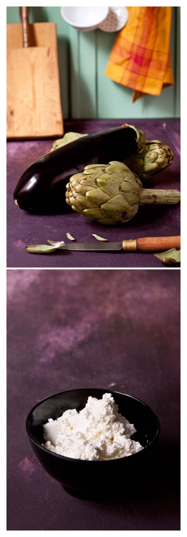 Berenjena-alcachofas-y-requeson