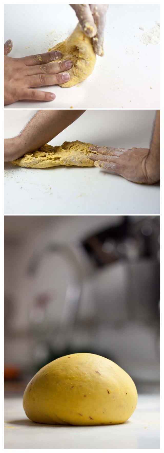 Elaboración-de-pasta-al-azafrán