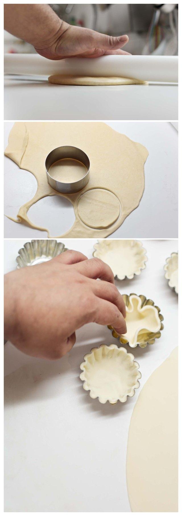 como cubrir moldes para la receta