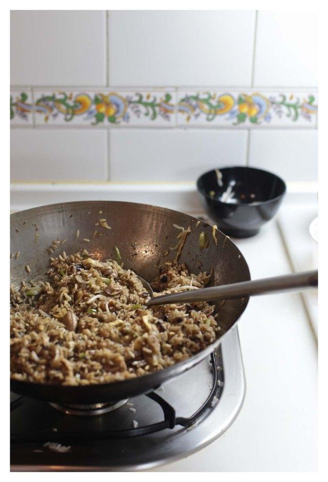arroz frito de chipirones
