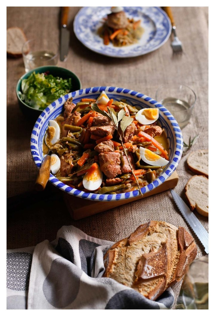 escabeche de verduras y atún