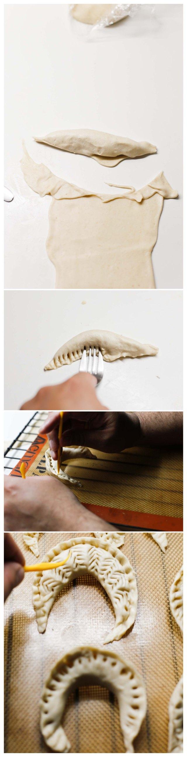 cortado y formado de cuernos
