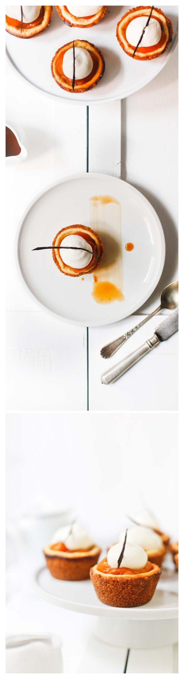 A disfrutar la tartita de albaricoques y queso
