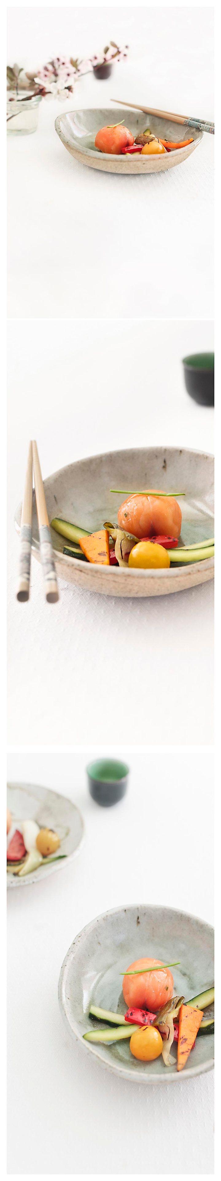 temarizushi y vegetales