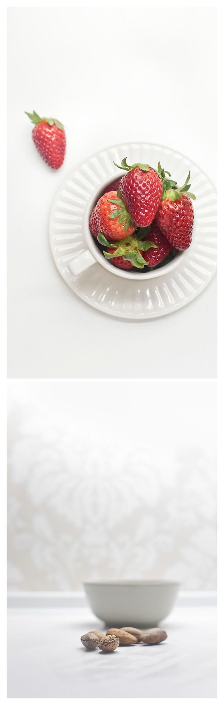 fresas y almendras