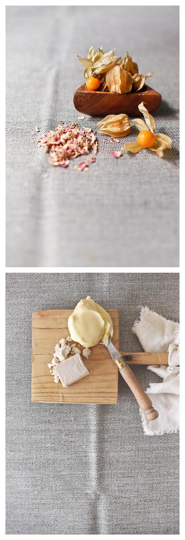 fisalis mantequilla y levadura fresca
