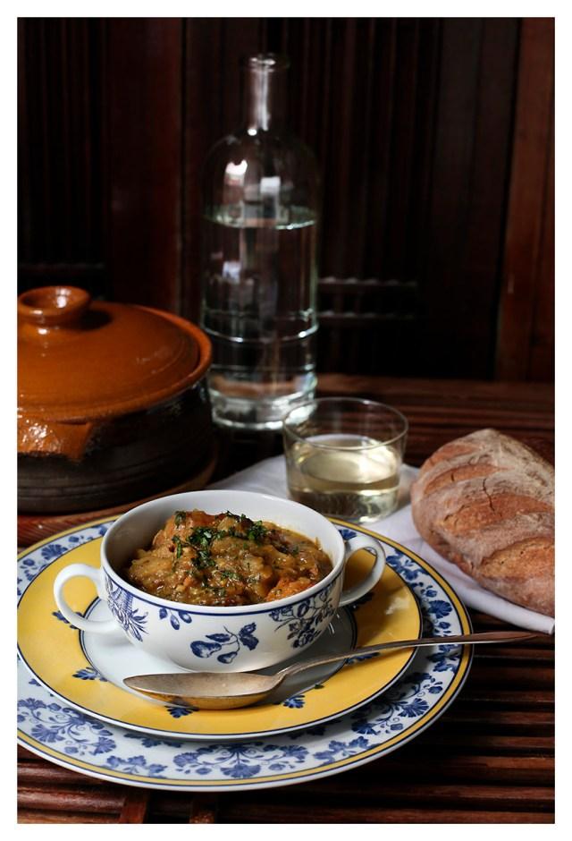 cazuela de bacalao y verduras