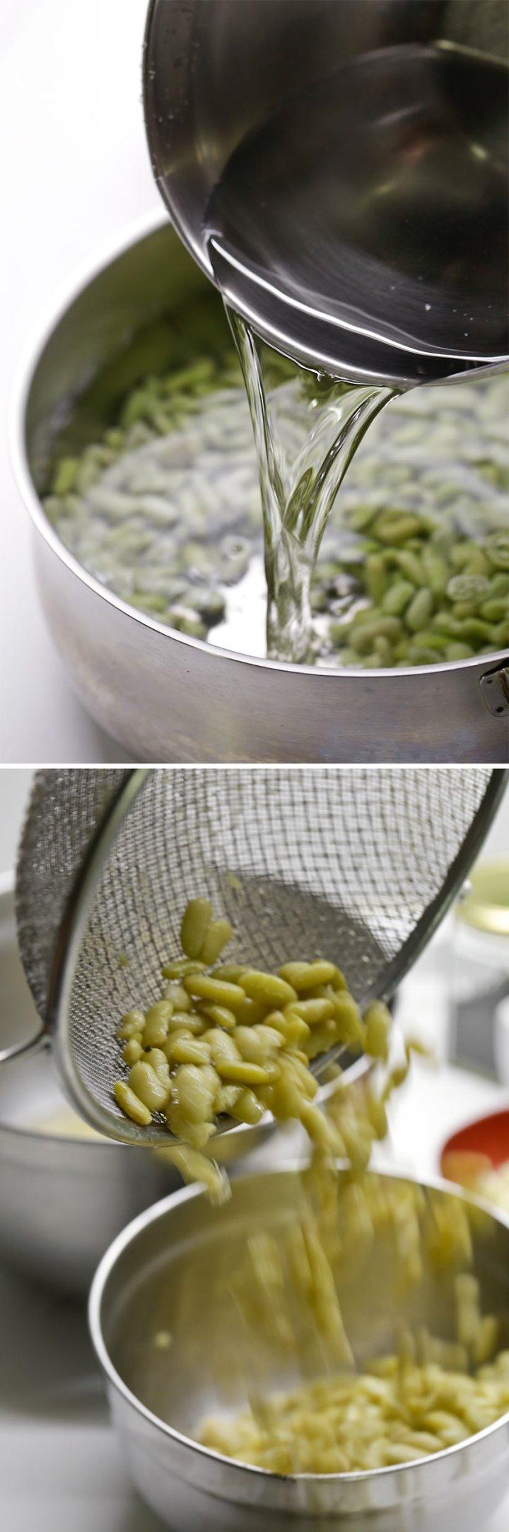 Receta de puré de verdinas con langostinos g