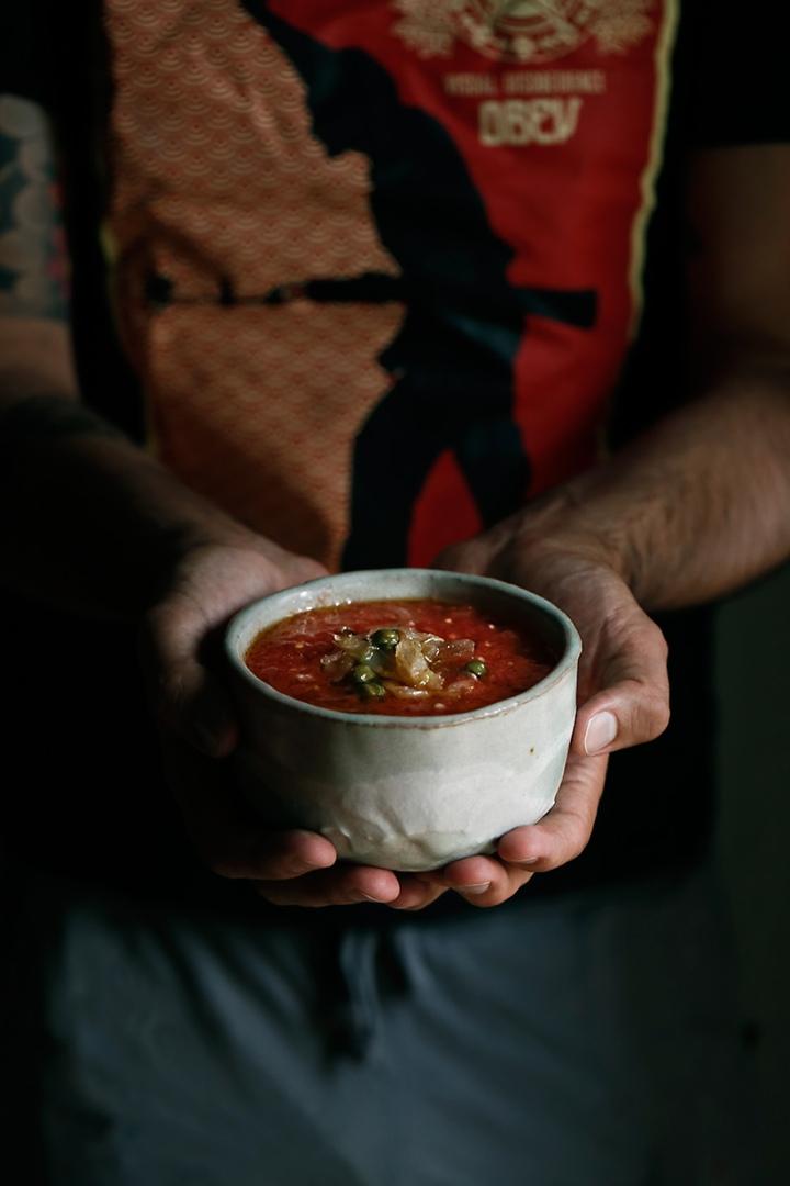 Capellán con tomate