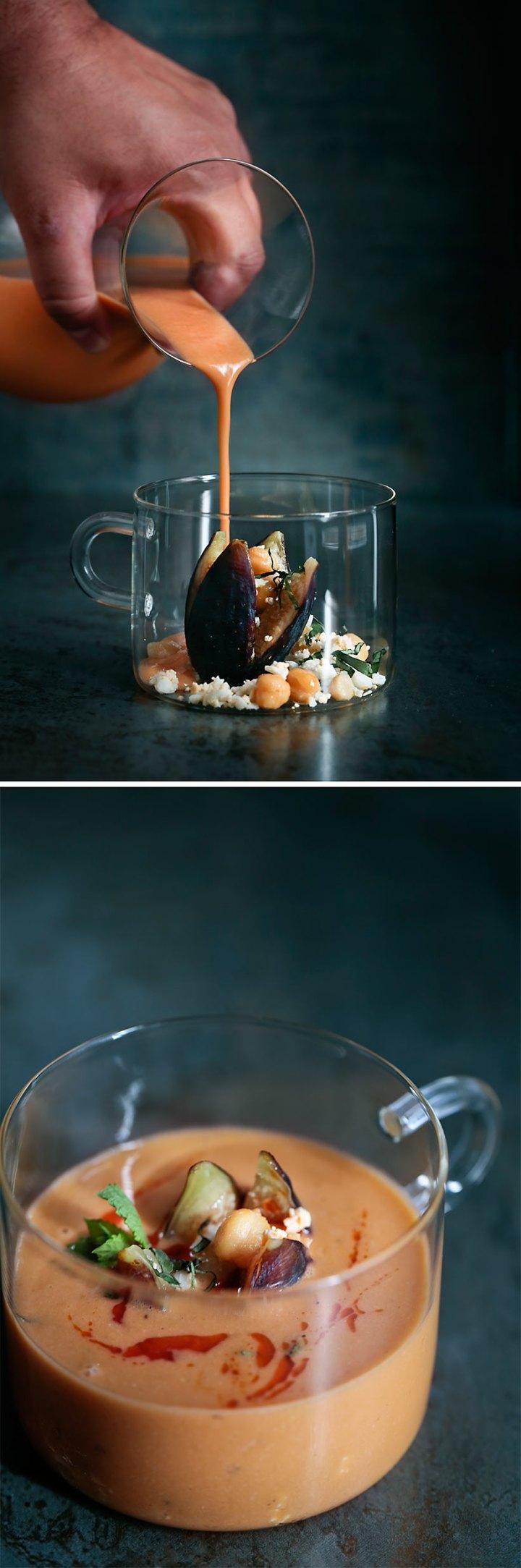 Receta de gazpacho de garbanzos 2
