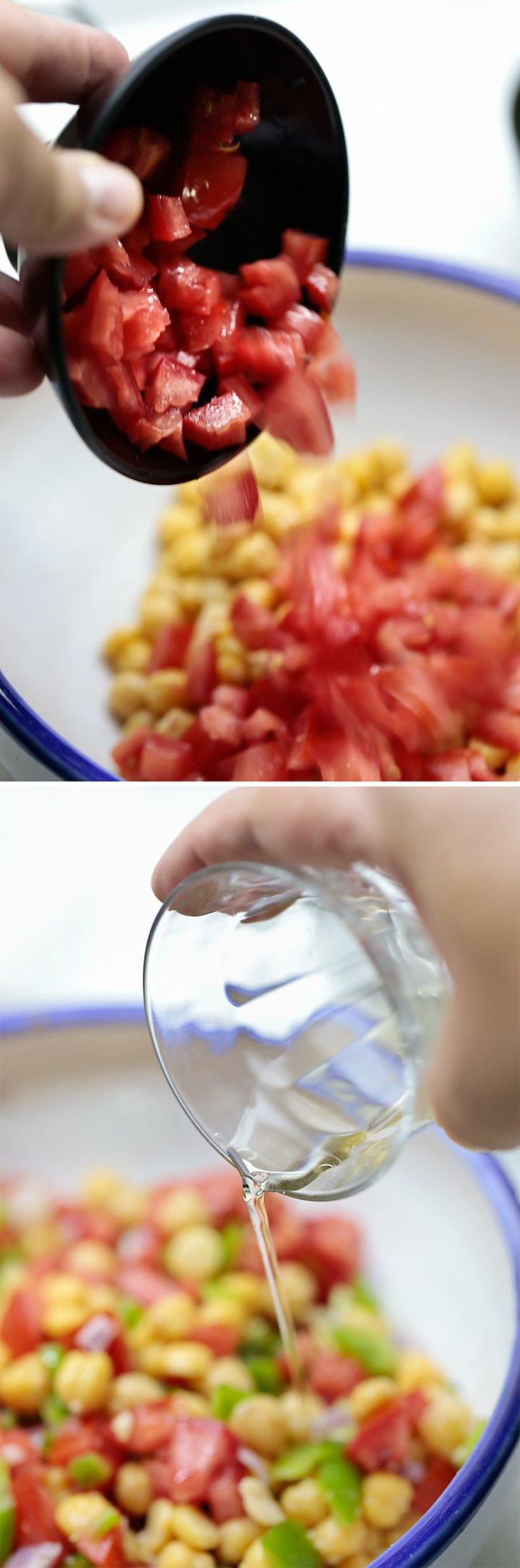 Receta de gazpacho de garbanzos 7