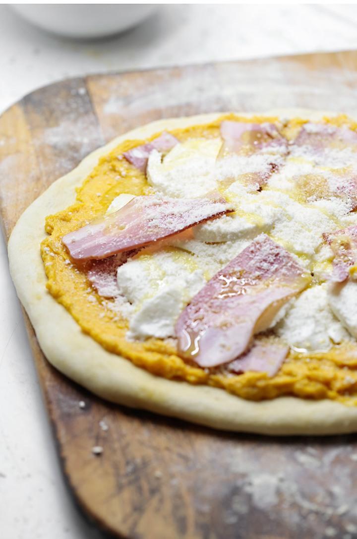 Receta pizza de calabaza