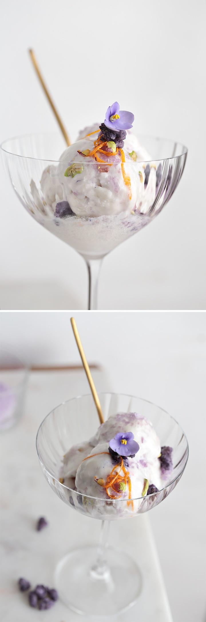 Receta helado de violeta estilo persa