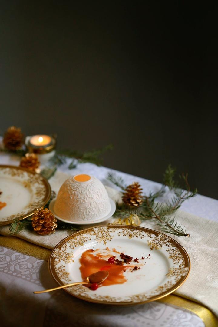 Receta pudin de Navidad con salsa de oporto