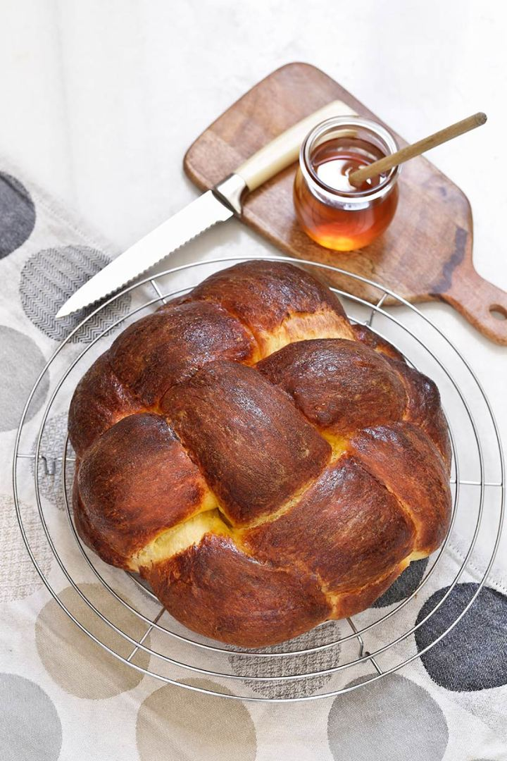 Receta de pan challah de naranja